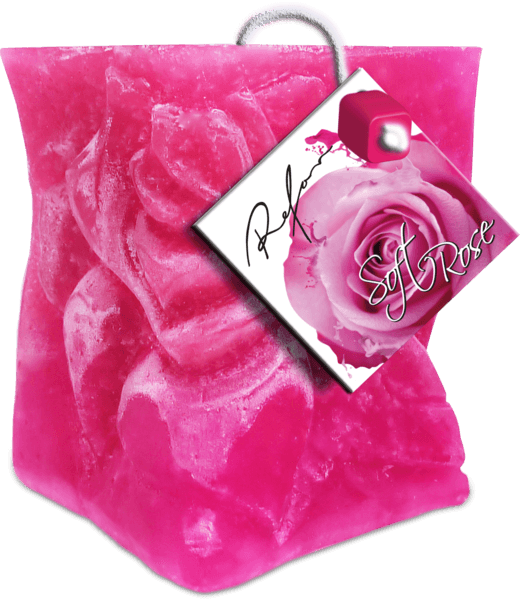 Perfume candle Soft rose