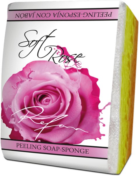 Peeling soap-sponge Soft rose