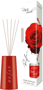 Rose Touch Home perfume with rattan sticks