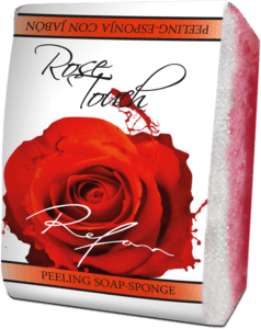 Rose Touch Peeling soap-sponge