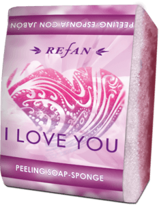I Love you Peeling soap sponge