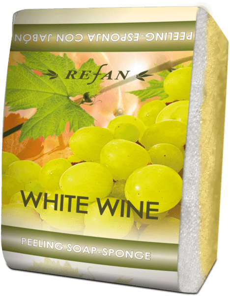 White wine peeling soap-sponge