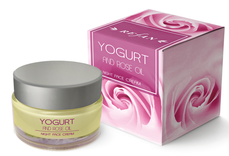 Night face cream Yogurt and Rose oil