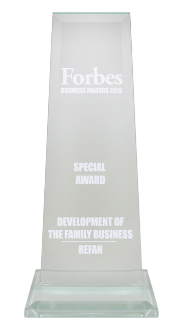 Refan: special Family Business Development Prize of FORBES