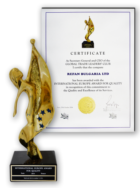 Refan: International European Quality Award 2014