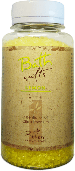 Bath salts with essential oil of lemon 250g