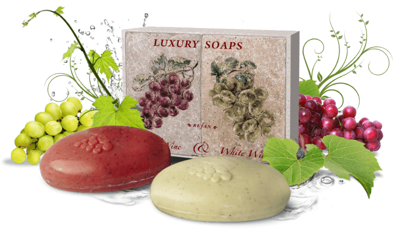 Luxury Soaps Red Wine & White Wine