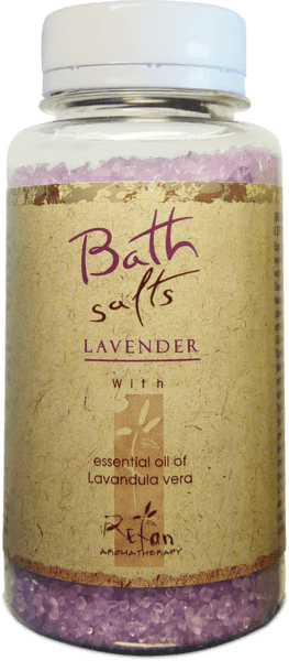 Bath salts with essential oil of lavender 250g
