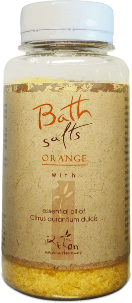 Bath salts with essential oil of orange 250g