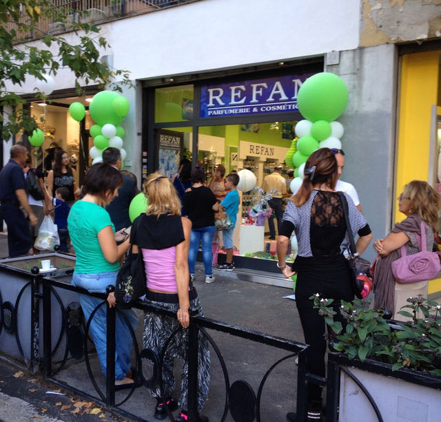 "The doors of the new ""REFAN"" store in Roma, Italy"