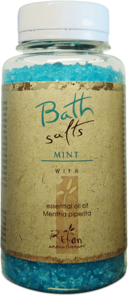 Bath salts with essential oil of mint 250g