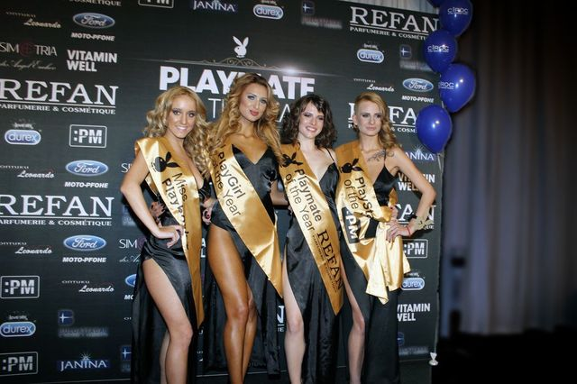 "Refan"" awarded the new Playmate of the Year winner , Viktoria Ananieva."