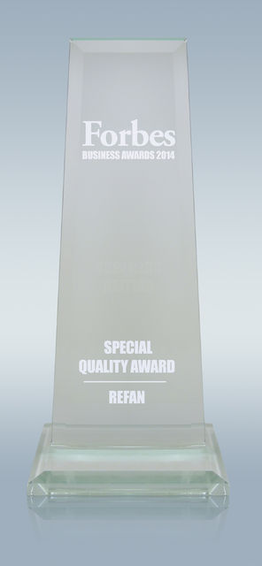 Refan with a special Forbes quality award