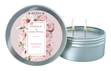 Magnolia & Rose Petals PERFUMED CANDLE
