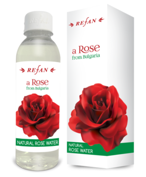 The bulgarian rose water natural is derived through distillation of the blossoms of Rosa Damascena.