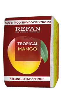 Peeling Soap-Sponge Tropical Mango