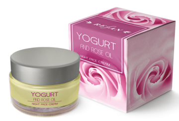 Yogurt and Rose oil Night face cream Yogurt and Rose oil