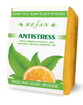 Peeling soap sponge Antistress with verbena extract and orange essential oil