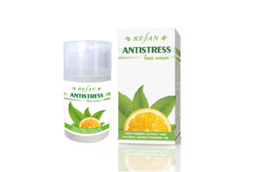 Face cream Antistress with verbena extract, shea butter and orange essential oil