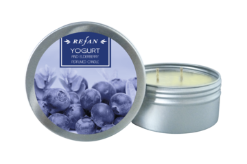 Velas Velas perfumada Perfumed candle Yogurt and Elderberry