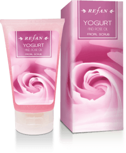 Yogurt and Rose oil Facial scrub yogurt and rose oil
