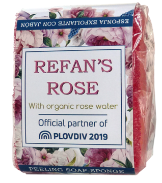 Pilling soap-sponge Refan's Rose