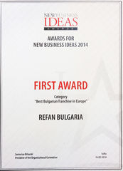 "Refan: ""Best Bulgarian franchise in Europe 2014"