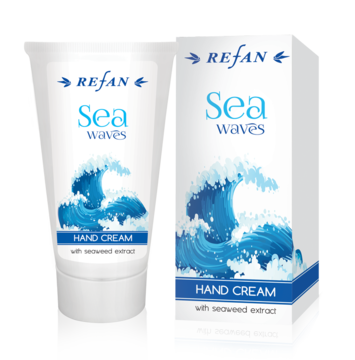 Hand cream with brown seaweed extract rich