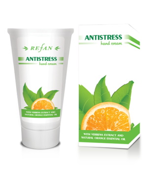 Hand cream Antistress with verbena extract and organic orange essential oil