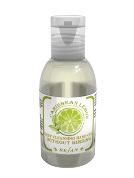 Deep cleansing hand gel Caribbean lemon