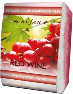 Soaps Peeling soap sponges Peeling soap-sponge Red Wine