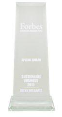 "Forbes business awards 2015 ""Sustainable bussiness"""