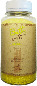 Bath salts Bath salts with essential oil of lemon 250g