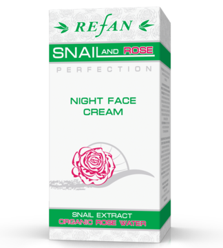 "CREME DE NOITE PARA O ROSTO  ""SNAIL AND ROSE PERFECTION"""
