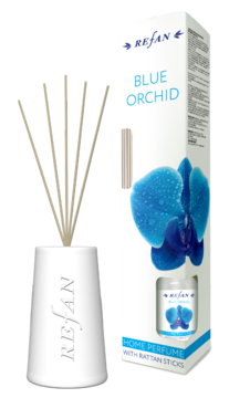 Blue Orchid Home perfume with rattan sticks