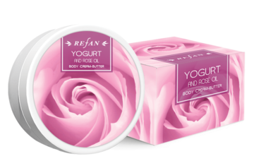 Yogurt and Rose oil Creme amanteigado para o corpo