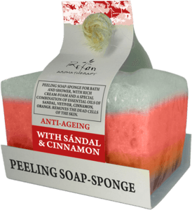 Soaps Peeling soap sponges ANTI-AGING aromatherapy soap