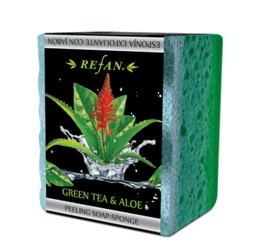 Green tea and aloe Peeling soap-sponge