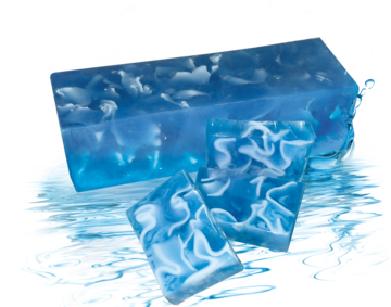 Handmade glycerin soap its fresh scent is reminiscent of the sea