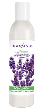Moisturizing body lotion with lavender oil and yogurt concentrate