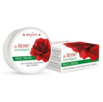 "FACE CREAM ""A ROSE OF BULGARIA"" REFAN WITH NATURAL ROSE WATER AND VITAMIN E"