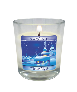 Velas Velas de Natal Winter Night