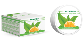 Body cream Antistress with verbena extract and organic orange essential oil
