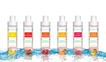 Shampoo-shower gels Fruit Collection with gentle and sweet fruity scents