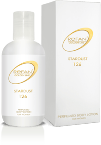 GOLDEN LINE STARDUST Perfumed body lotion with brocade