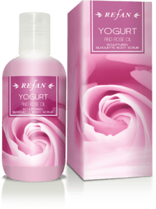 Yogurt and Rose oil Sculptured silhouette body scrub