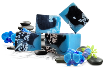 Blue Orchid Handmade glycerin soap