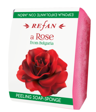 PEELING SOAP-SPONGE  A ROSE FROM BULGARIA REFAN