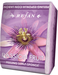 Passion fruit peeling soap sponge